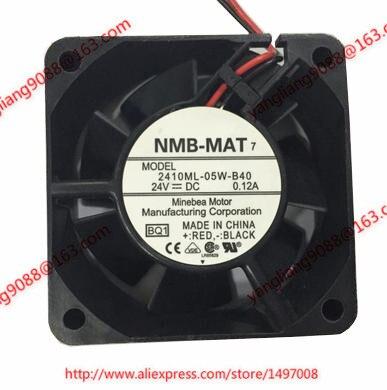 Free Shipping For NMB 2410ML-05W-B40, BQ1 DC 24V 0.12A, 60x60x25mm 2-wire 80mm Server Cooling Square fan