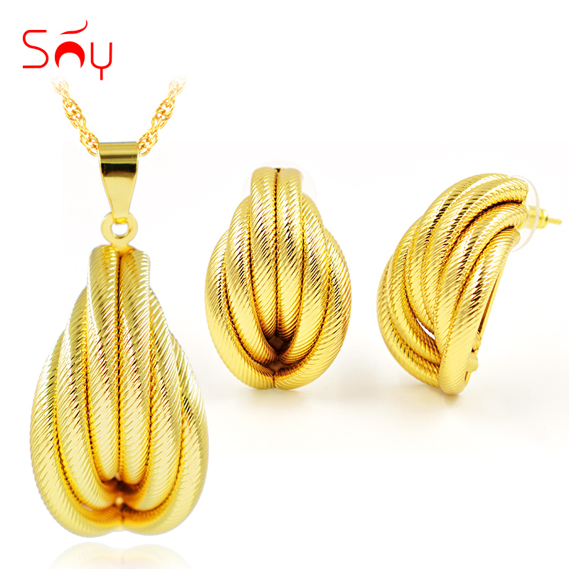 Sunny Jewelry Ethnic Jewelry Sets For Women Earrings Pendant Necklace Tube Jewelry Set For Party Fashion Dubai Jewelry Findings