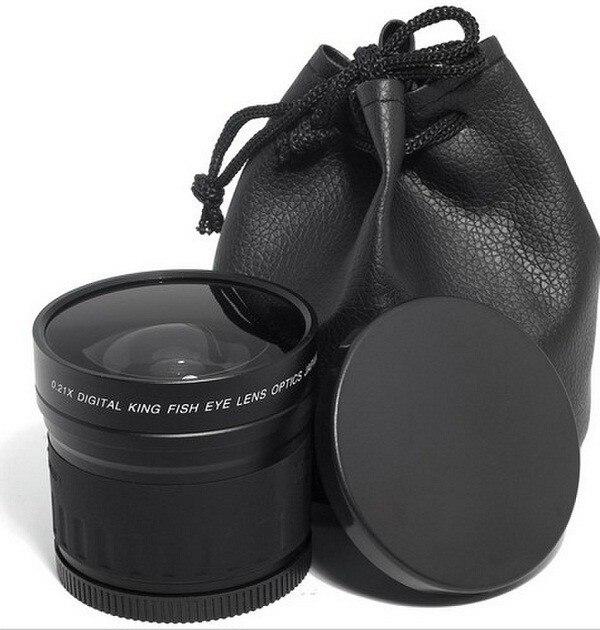 CUJMH 58mm 0.21x objectif fisheye grand Angle pour 58mm 0.21 canon 600d 60d nikon d90 d300 pentax sony DSLR/SLR appareil photo numérique