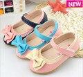Девочки обувь сникер весна бант дети принцесса кожа обувь, Дети обувь для девочки ну вечеринку обувь