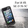 I5 5S se redpepper à prova d' água de mergulho ao ar livre fotografia case capa para iphone 4 4s plus com cabo de áudio