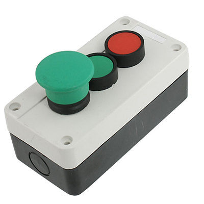 AC 400V 10A Red NC Momentary Push Button Switch Control Station Box [vk] a22nn rna nya g202 nn switch push dpst nc 10a 120v switch