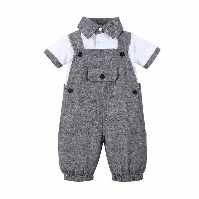 Pakaian Musim Panas Baby Boy Set Lengan Pendek  2