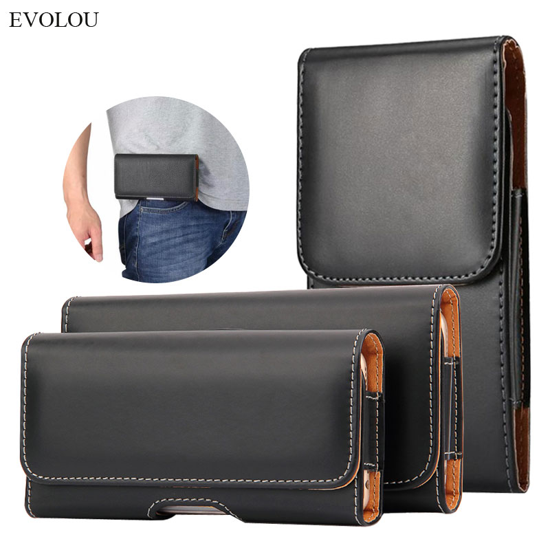 Leather phone belt case 6.5/5.8/4.7'' Waist Bag Magnetic Vertical Phone Case for iPhone XR XS Max 8 Plus Pouch Cover Belt Clip