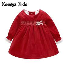 1ad481ddc 2018 Autumn Warm Soft New Girls Velvet Princess Baby Sweet Cute Children's  Dress 2pcs Suit Girls Clothes Sets Newborn Dresses