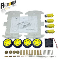 50sets 4WD Smart Robot Car Chassis Kits For Arduino With Speed Encoder New Free Shipping RBP011