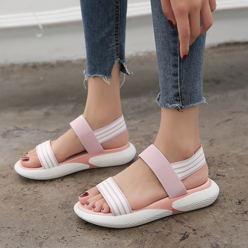 2019 Women's Shoes Summer Wedges Sandals Fashion Ladies Slip on Beach Sandals Woman Casual Shoes Breathable Platform Sandalias