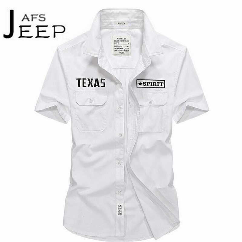 JI PU Blue/Gray/White Mans Summer Short Sleeve Shirt,Embroidery Letter al aire libre working workers wearable shirts