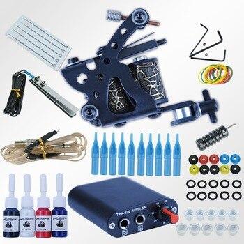 Professional Complete Tattoo Kits Set Tattoo Machine Power Supply Tattoo Beginner Kits 8 Wrap Coils Guns Tattoo Machine Supplies Whirlpool Water Filter F2WC9I1