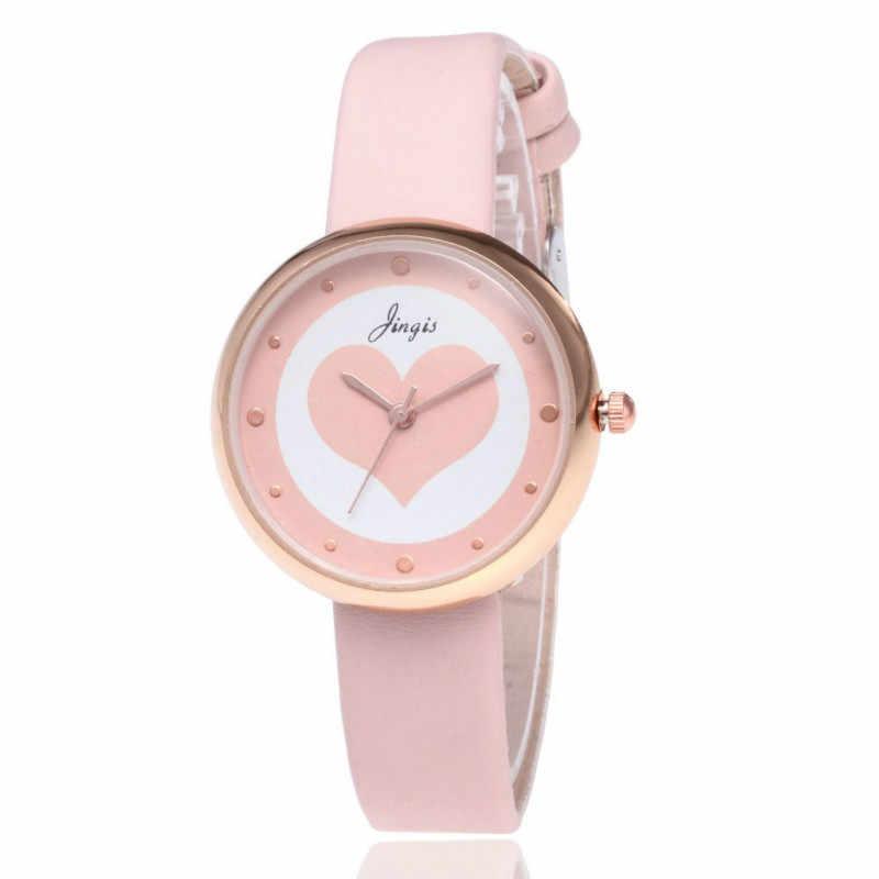 Reloj de pulsera de cuero a la moda de marca de lujo para mujer reloj de pulsera de cuarzo para estudiante