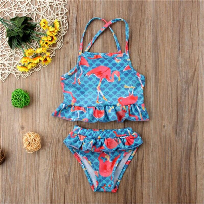2018 New Toddler Kids Baby Girls Cute Bikini Swimwear Swimsuit Bathing Beachwear Intersecting swimsuit
