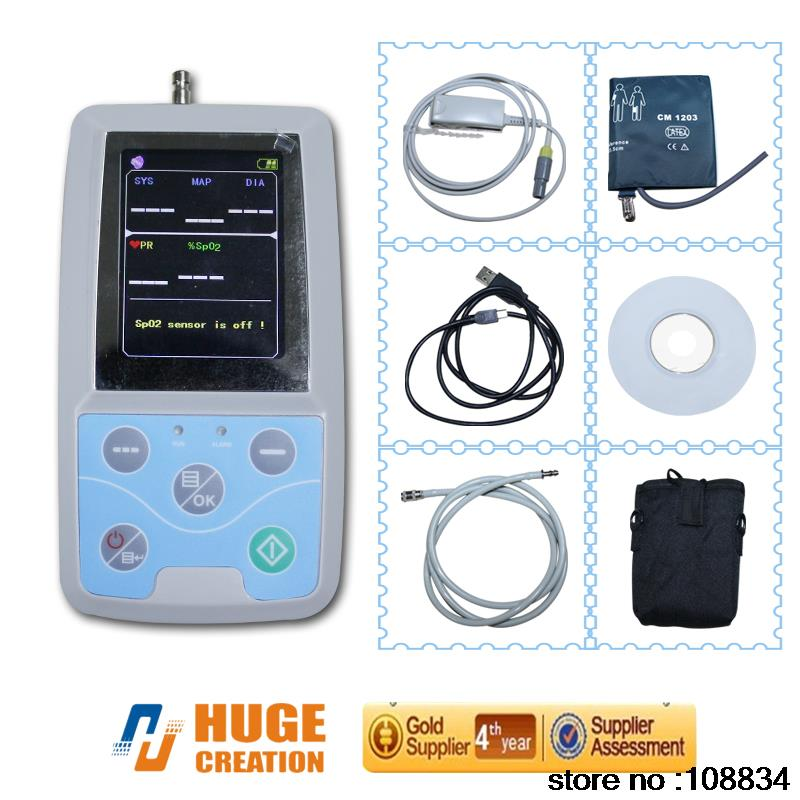 PM50 24 hour Blood Pressure, SPO2, PR Medical Patient Monitor abpm50 ce fda approved 24 hours patient monitor ambulatory automatic blood pressure nibp holter with usb cable