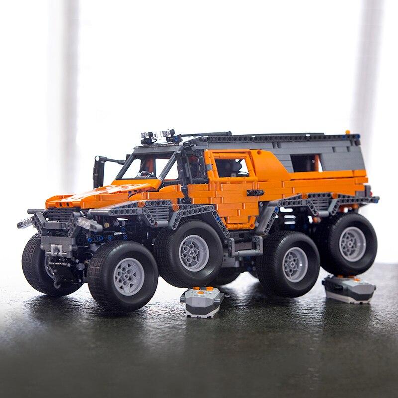 En stock 23011 23011B Technic série véhicule tout-terrain avec moteur électrique modèle blocs de construction briques compatibles MOC5360 jouets