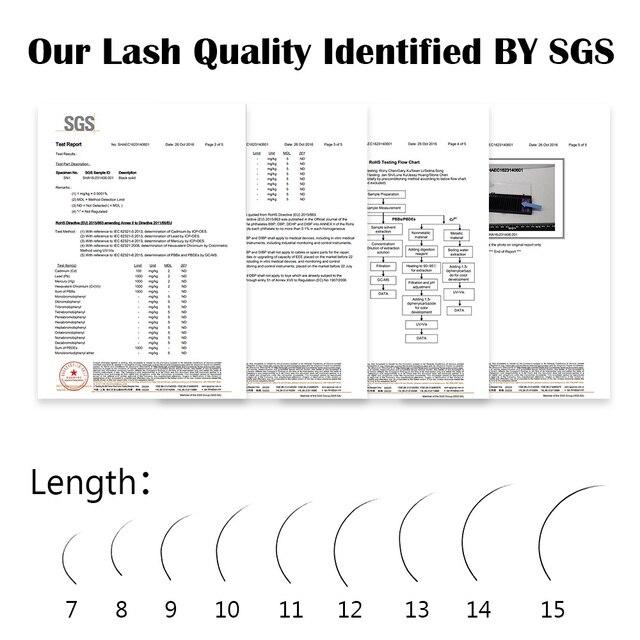 NAGARAKU 16Rows Faux lash individual eyelash extension lashes maquiagem cilios  for professionals soft natural eyelash extension 6