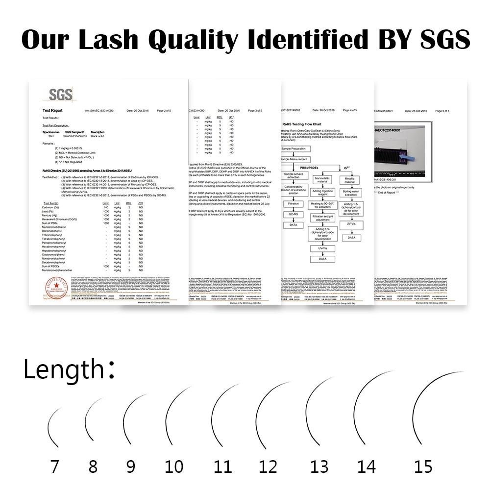 Image 5 - NAGARAKU 16Rows Faux mink individual eyelash lashes maquiagem cilios  for professionals soft mink eyelash extension-in False Eyelashes from Beauty & Health
