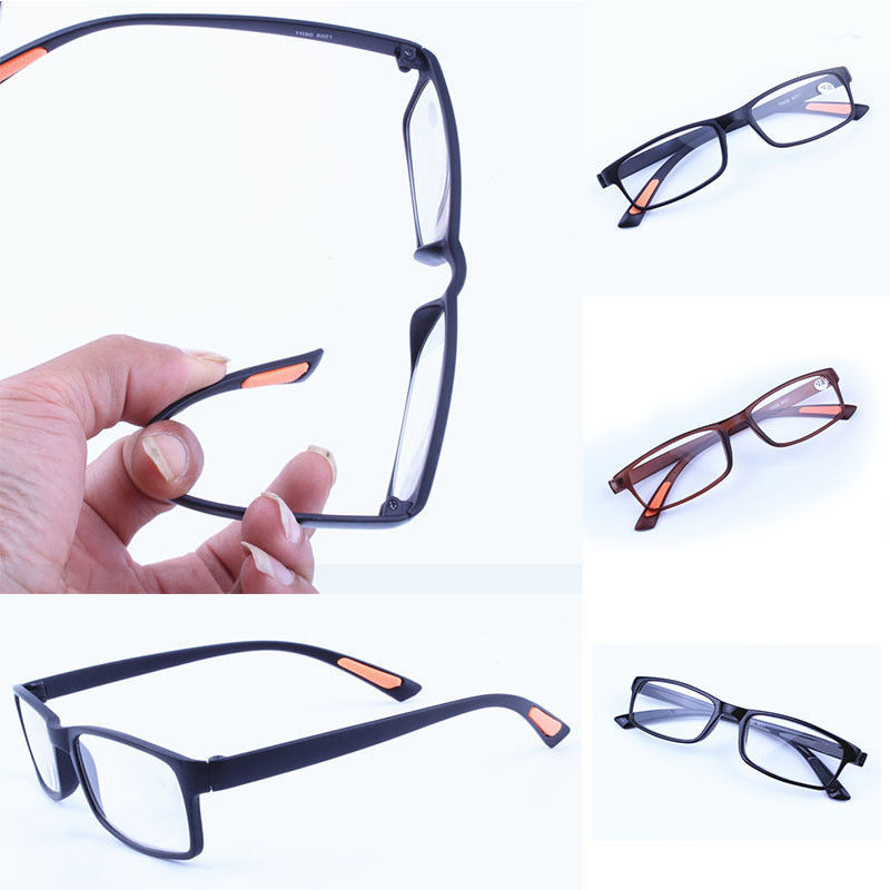 New Black Reading Glasses Toughness Ultra-light Resin Material For Female Male Reading Presbyopic Glasses Strength +1.00 - +4.00