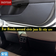 Car  Pads  Front Rear Door  Seat Anti-kick Mat Accessories For Honda Accord Civic Jazz Fit City  Grace Crv Cr-v Hrv Hr-v Vezel
