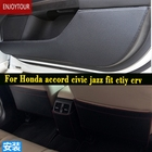 Car Pads Front Rear Door Seat Anti-kick Mat Accessories For Honda Accord Civic Jazz Fit City Grace Crv Cr-v Hrv Hr-v Vezel