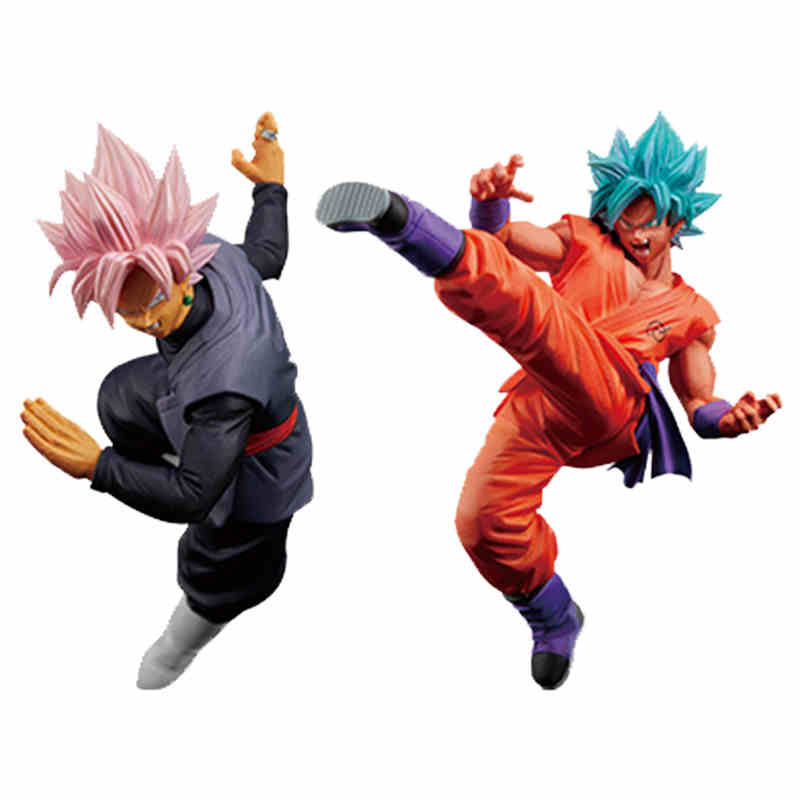 Dragon Ball Super FES Rose Black Goku Blue God Goku PVC Figure Vol.5 Japan Anime Collectible Mascot Toys 100% Original 32cm dragon ball super the super warriors vol 3 figure collection goku black action figure