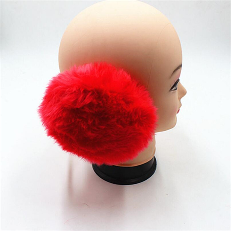 YRRETY Unisex Earmuffs Women Men Warm Fur Earmuffs Unisex Girls Winter Earwarmers Ear Muffs Earflap Warmer Headband Fur Round