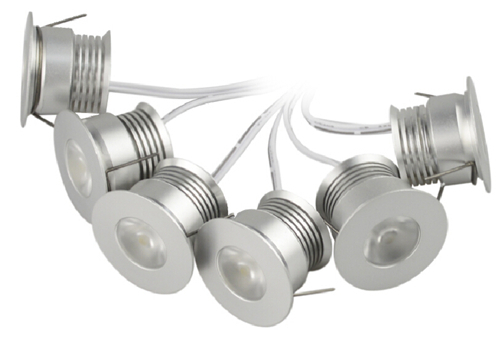ФОТО Mini Dimmable Down Light COB 4W LED Cabinet Light 6pcs per set including adapter 110V 220V Free Shipping