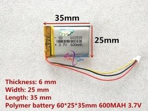 Image 2 - Wideorejestrator 388 pojemność 600MAH model 582535 602535 P polimerowa bateria thium 3 linia