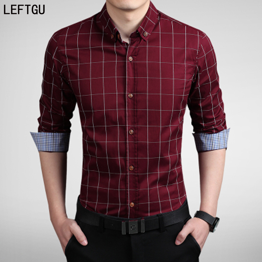 Buy new 2017 men 39 s shirts male casual for Men slim fit shirts