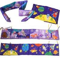 Yumuşak Bebek Yatağı Beşik Tampon Kumaş Bez Kitap Bebek Yatak Set Orman Hayvanlar Uzay Baskı Kitapçığı Fırfır Beşik Tampon Için çocuk