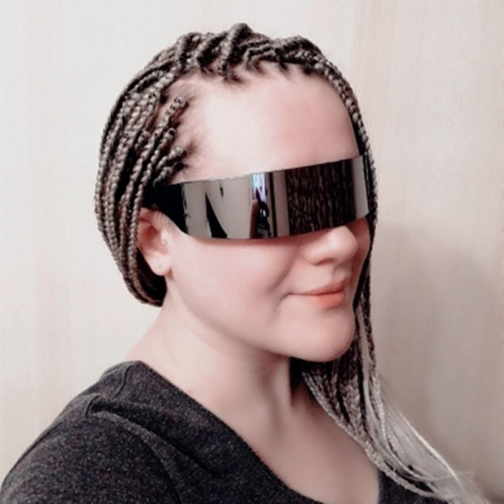 4f532d372c 2019 Funny Glasses Frame Futuristic Wrap Around Costume Eyeglasses ...