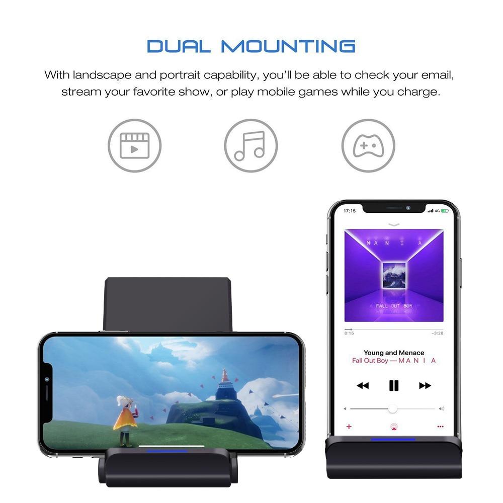 Samsung S9 S8 Plus Xiaomi mix 2s üçün iPhone X 8 XS MAX XR 10W Qi - Cib telefonu aksesuarları və hissələri - Fotoqrafiya 2