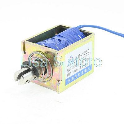 JF-1250B Model DC 24V 360mA Solenoid Electromagnet Push Pull Type Open Frame Solenoid Electromagnet 10mm 60N 13LB elegant short silky straight bob style synthetic full bang assorted color cosplay wig for women