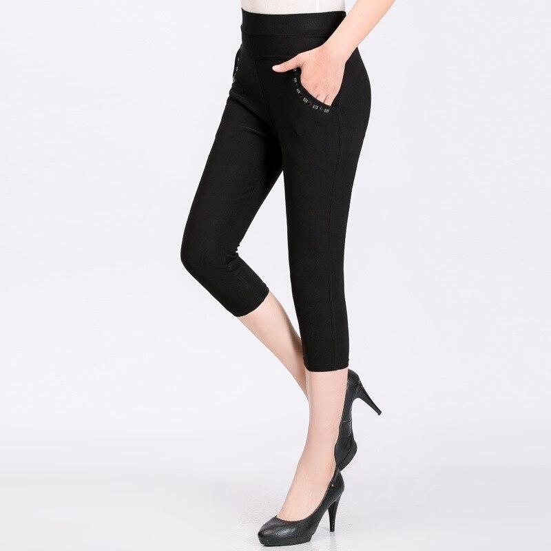 Summer Women's Pants Casual Pants Women High Waist Women Pants Big Size 5XL Trousers Women Pocket Hot Drill Pantalones