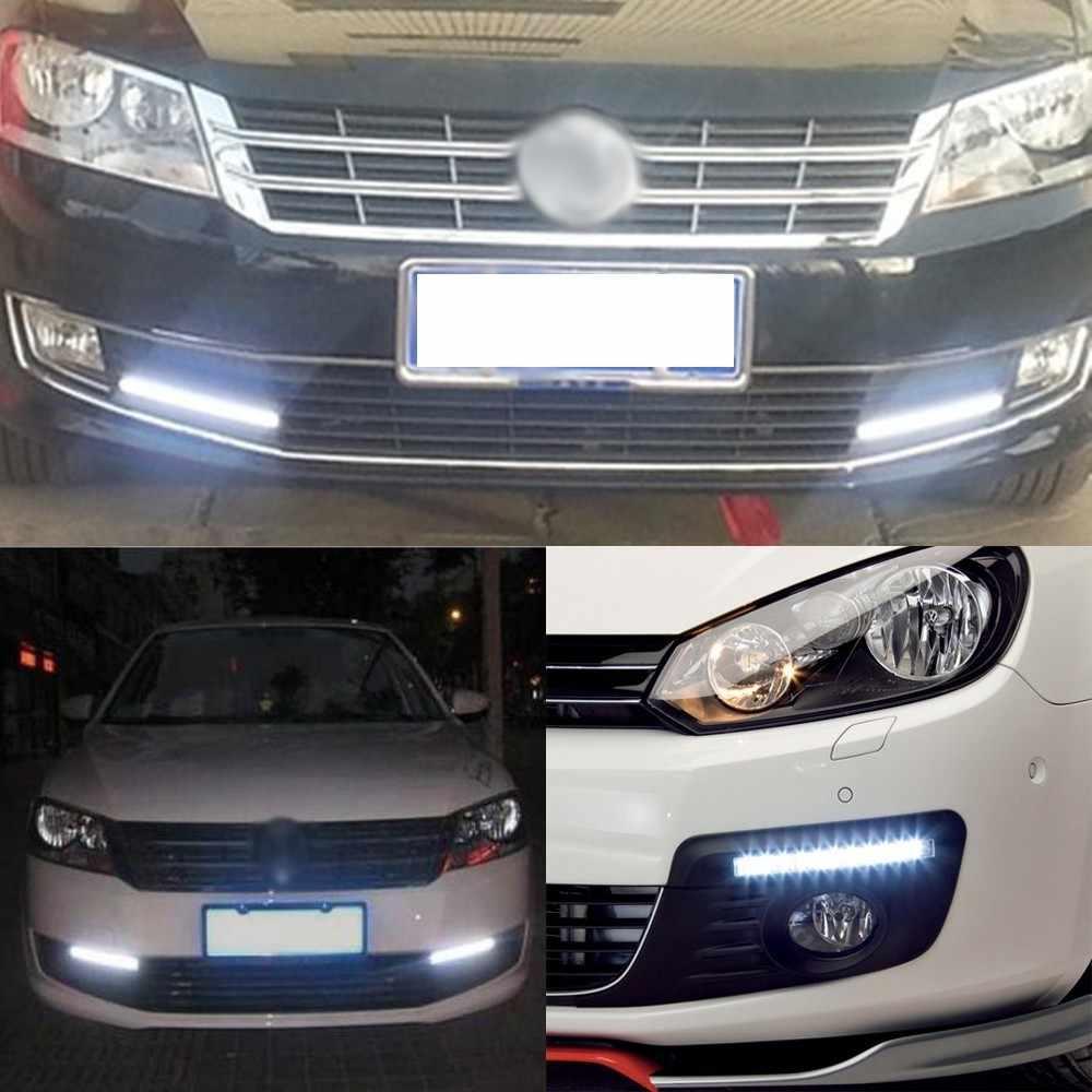 1 Stuk 17 Cm Universal Dagrijverlichting Cob Drl Led Auto Lamp Buitenverlichting Auto Waterdichte Auto Styling Led drl Lamp