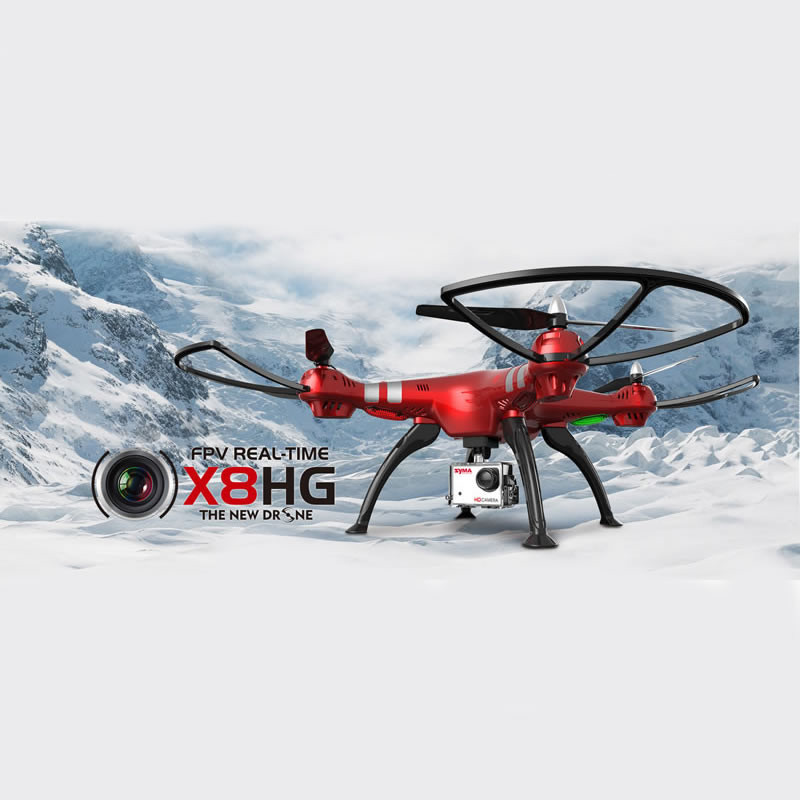 Syma X8HG RC Drone With Camera RC Helicopter 2.4G 6 Axis RC Drones With Camera HD RC Quadcopter Can Carry SJ7000 Wifi Camera