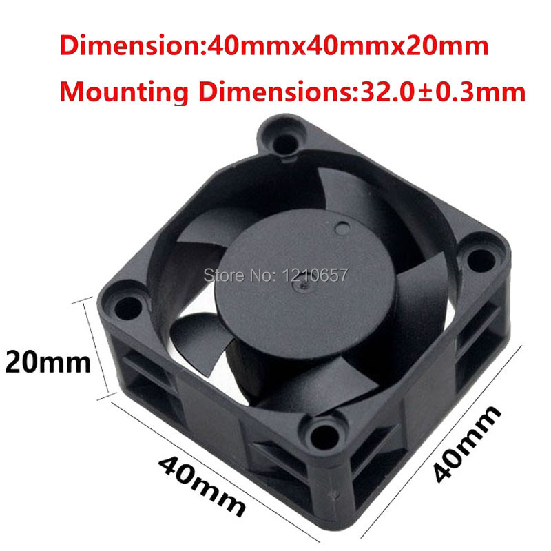 10 PCS LOT Gdstime Cooler 40mm 40x40x20mm 4020s 4cm DC 12V 2P Brushless Cooling Fan in Fans Cooling from Computer Office