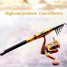 fishing rod+reel rod combo combination! The Best Rock Bass Carp 10BB Spinning Reel Metal + 3.0M fishing Rod with cost-effective