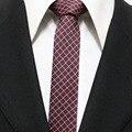 Lingyao 5 cm Jovens Homens Populares Gravatas finas Moda Casual Gravata com Xadrezes Clássicos