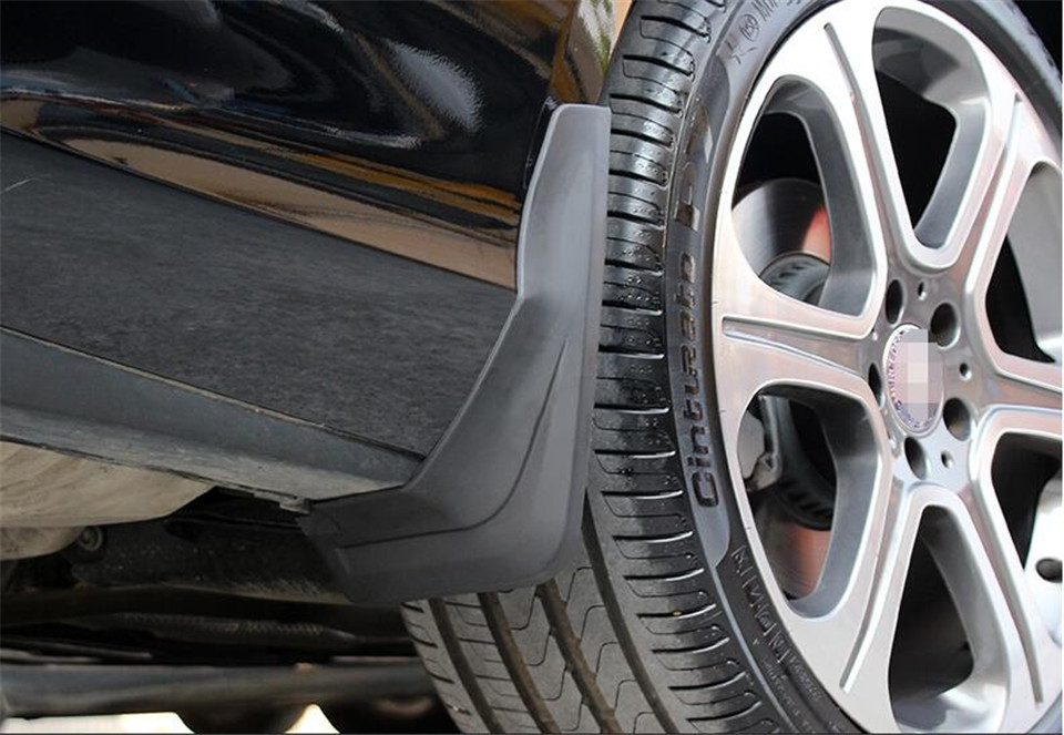 ФОТО 4pcs Front + Rear Black Mud Splash Flaps Guard Fender Mudguard For Mercedes Benz W213 E Class 2017 Sport