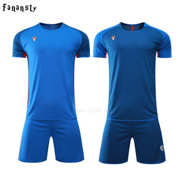 best service 22287 a1696 US $18.86  Top quality Men Reversible football Set Uniforms kits Sports  clothes Double side soccer jerseys DIY Customized Training suits -in Soccer  ...