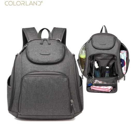 COLORLAND Diaper Wet bag Backpack Baby Bags Mom Travel Mummy Maternity Bag Organizer Fashion Printing Changing Nappy Backpacks все цены