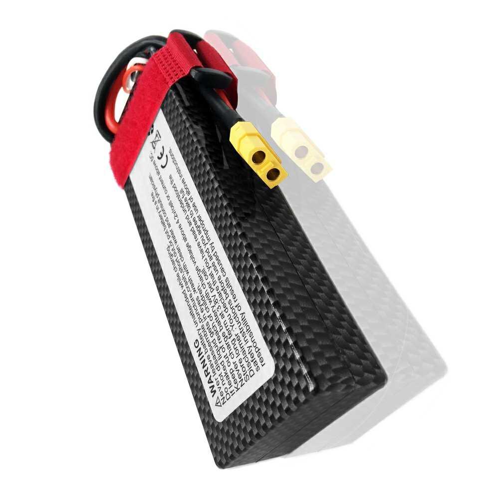 GTFDR 2 piezas RC batería Lipo 7,4 mah 7000 V 60C Max 120C 2S1P RC Lipo batería caso duro para RC 1/10 TRX Stampede coche camión