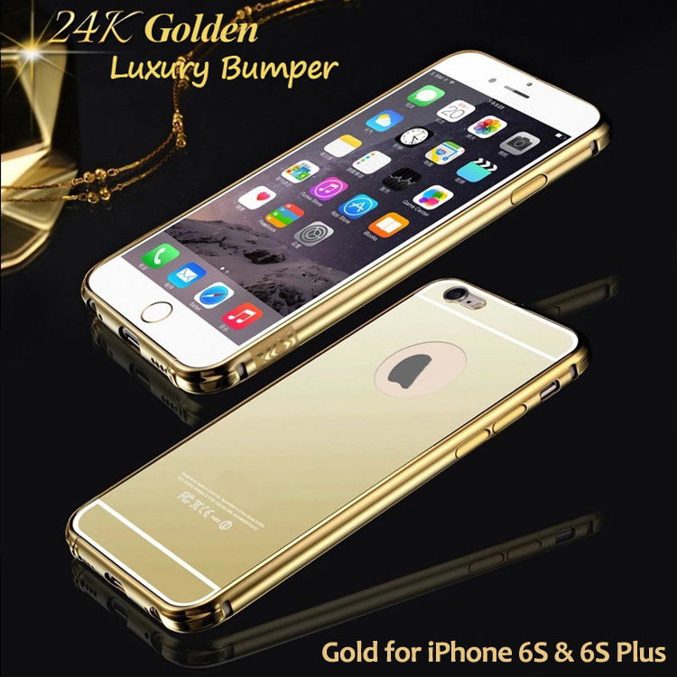 the latest 28e94 b3166 US $18.9 |Aliexpress.com : Buy 100% Quality Assure Luxury Brand Rose Gold  Mirror Bumper Case for iPhone 6 S Plus Aluminum Protect Cover 6S Plus 5.5  ...