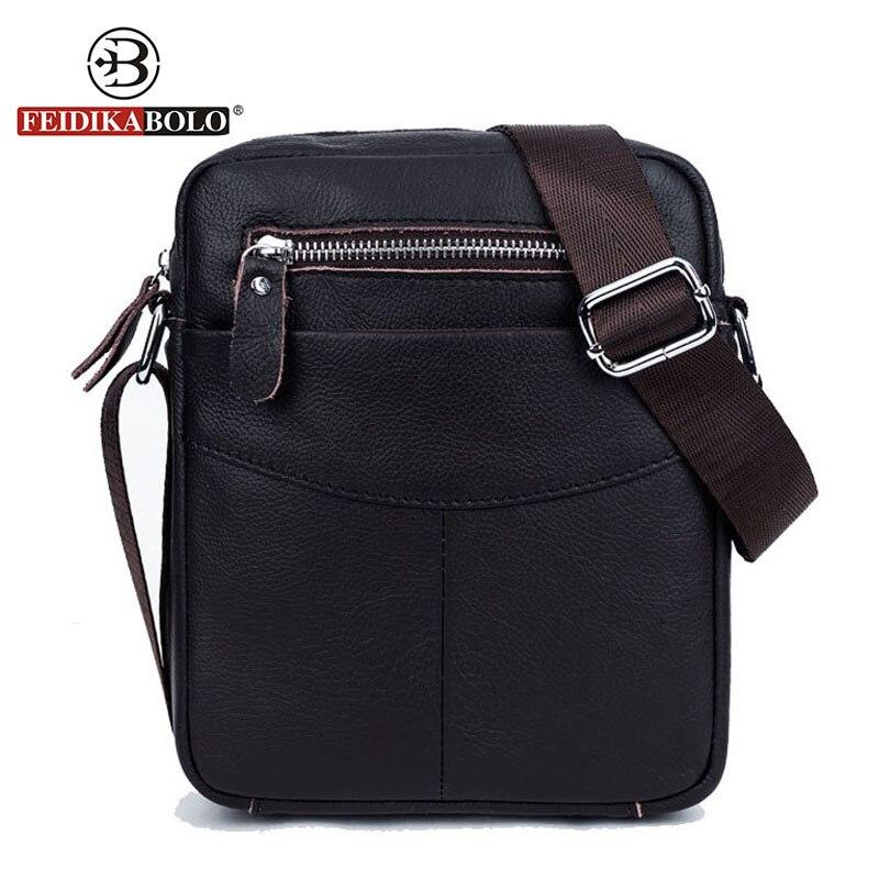 FEIDIKA BOLO Brand Genuine Leather Bag Men Messenger Bags Men Leather Handbags Small Crossbody Bags for Men Bag