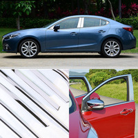 A Set Window Pillars Window Sill Molding Trim Exactly Fitted For Mazda 3 Axela 2014 2017