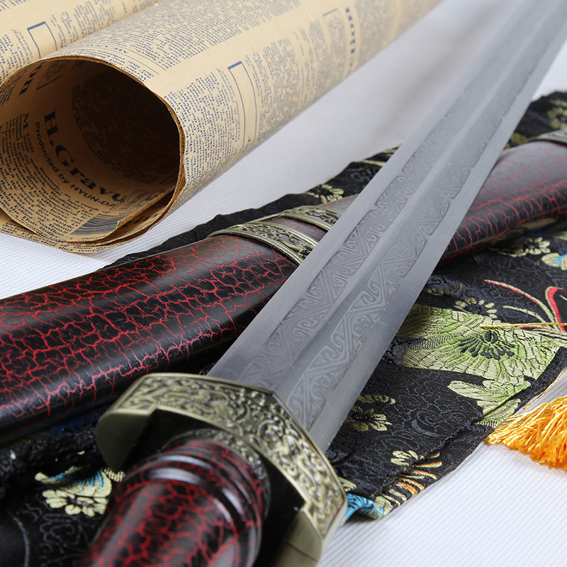 Wolong Sword Hard Pattern Steel Sword And Chinese Ancient Swords Home Decor