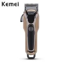 110 240V Kemei Professional Hair Clipper Electric Hair Trimmer Powerful Hair Shaving Machine Hair Cutting Beard
