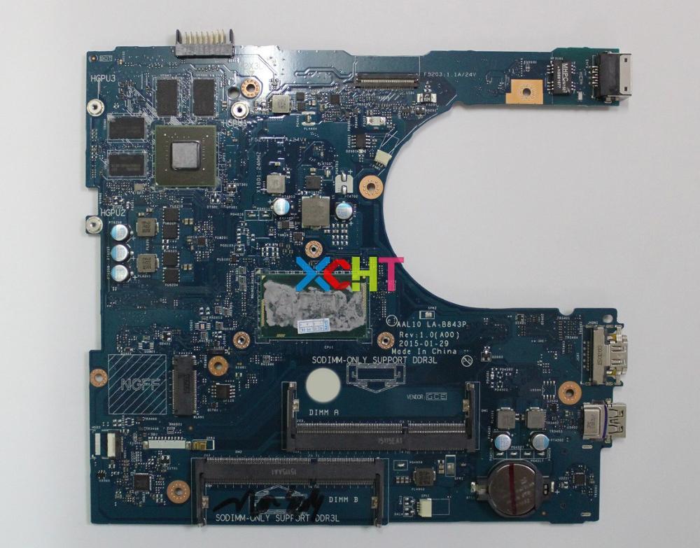 Для Dell Inspiron 15 5758 5558 1WHF7 01WHF7 CN 01WHF7 AAL10 LA B843P i5 5200U материнская плата для ноутбука