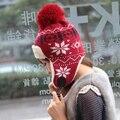 БЕСПЛАТНАЯ ДОСТАВКА!!! 2013 зимняя шапка женская сфера тепловой ловец hat cap вязаная шапка вязаная шапка ухо защитник