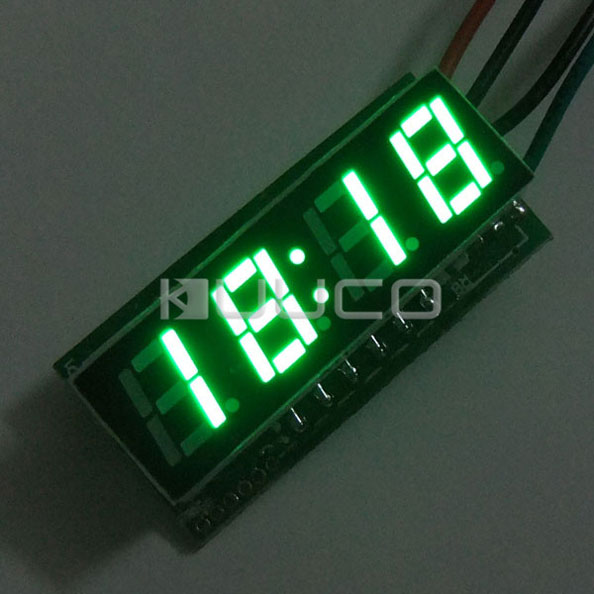 Car Clock 24 Hours Display Led Digital Clock/Panel Meter DC 12V 24V Digital Meter/Time Meter DIY Time Monitor/Tester 24 hour digital clock yellow led display car clock digital meter panel meter adjustable clock dc 12v 24v diy time monitor tester