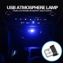 Lámpara LED de ambiente Mini USB para coche, para Hyundai Solaris Accent I30 IX35 Tucson Elantra Santa Fe Getz I20 Sonata I40 I10